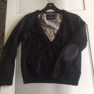 Sweaters - Maison scotch buttoned cardigan elbow patches